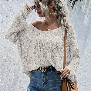 Popcorn Textured Sweater